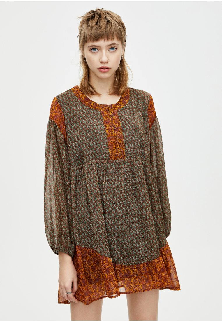 PULL&BEAR - Shirt dress - brown
