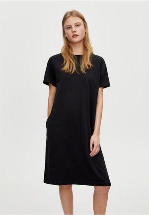 MIT RUNDAUSSCHNITT  - Žerzejové šaty - black