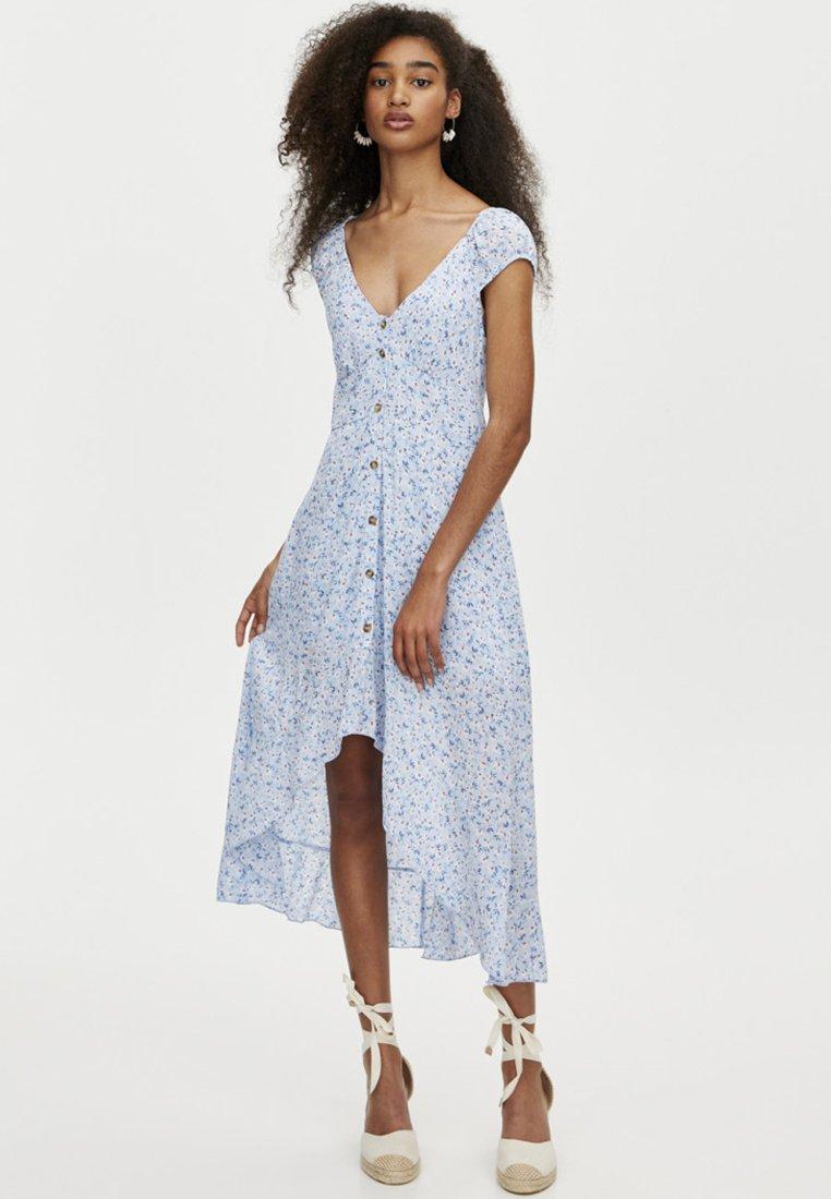 PULL&BEAR - MIT KNÖPFEN - Shirt dress - light blue