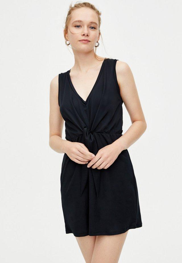MIT KNOTEN  - Korte jurk - black