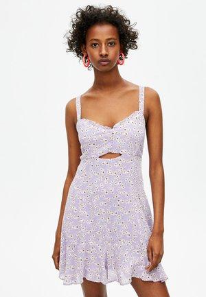 MIT VOLANT - Korte jurk - mauve