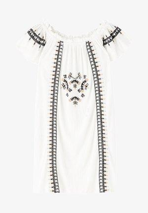 MIT STICKEREIEN - Day dress - white