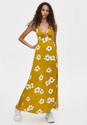 MIT BLUMENPRINT - Robe longue - yellow