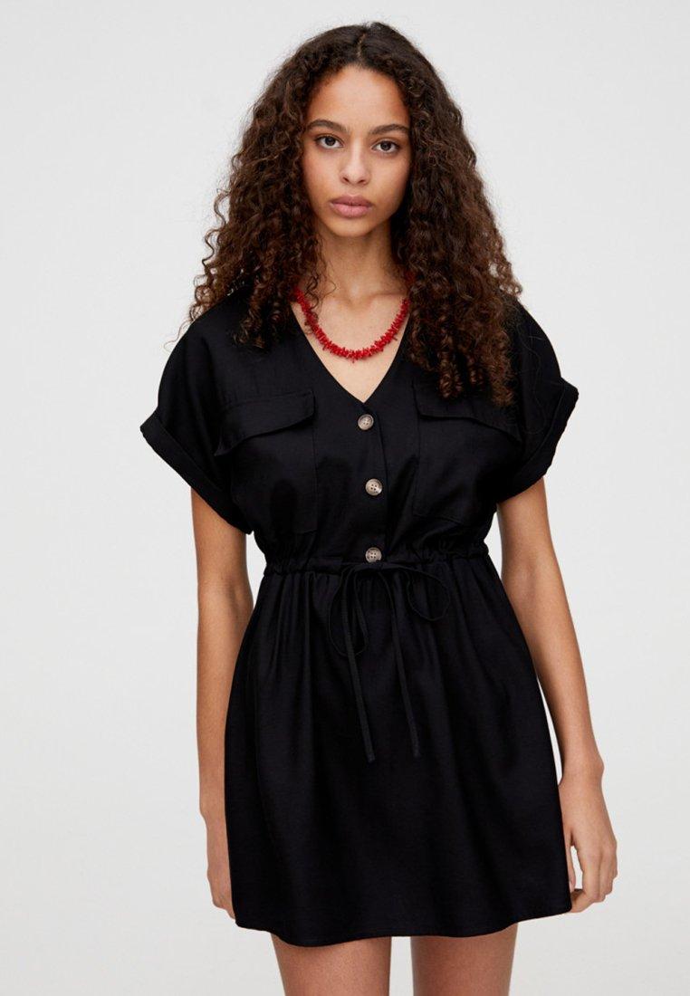 PULL&BEAR - Robe d'été - black