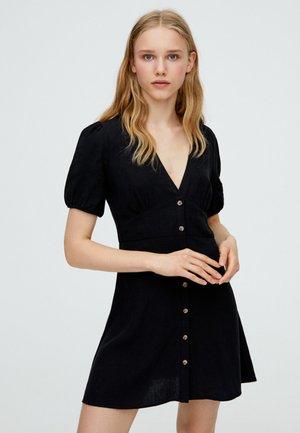 MIT PUFFÄRMELN  - Robe d'été - black