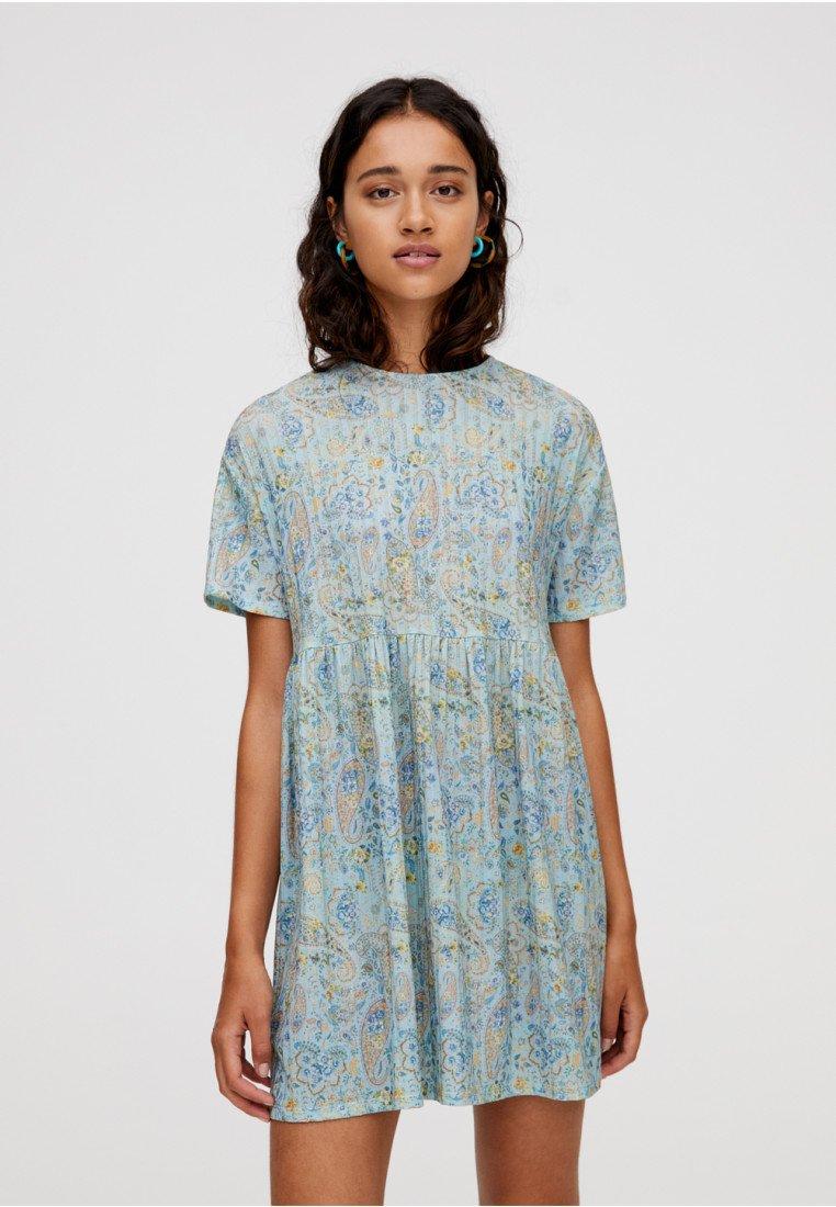 PULL&BEAR - MIT PAISLEYPRINT - Hverdagskjoler - blue