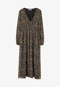 PULL&BEAR - GESMOKTES MIDIKLEID MIT PRINT 09390417 - Day dress - black - 5