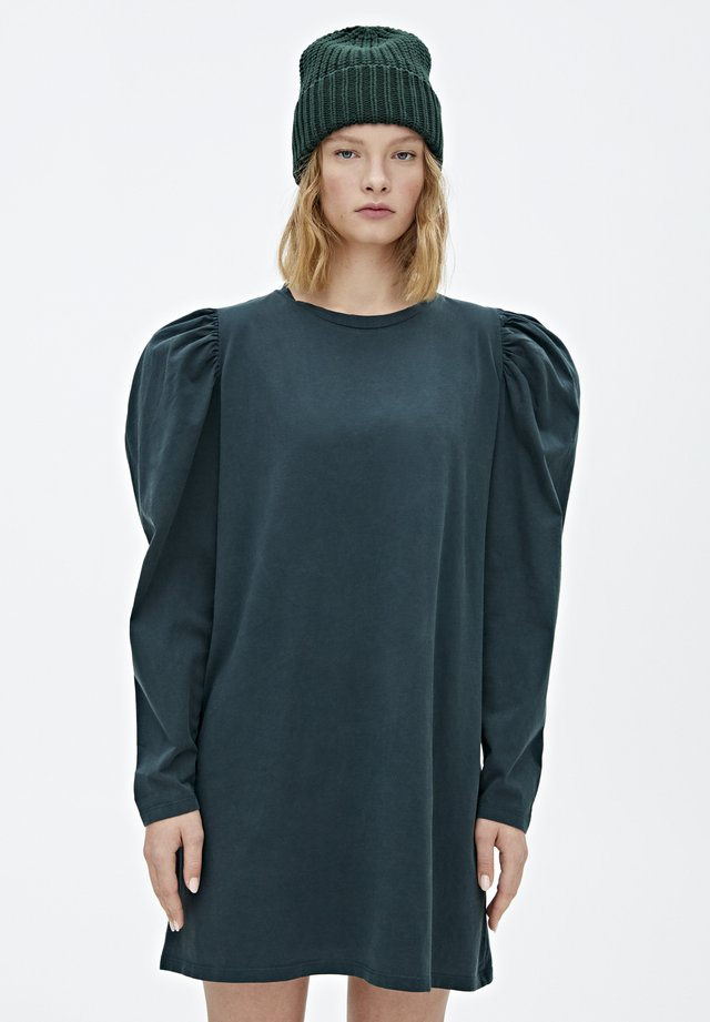 MIT BALLONÄRMELN  - Sukienka z dżerseju - dark green
