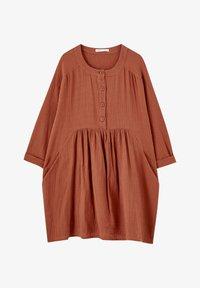 PULL&BEAR - MIT KNÖPFEN - Day dress - mottled red - 6