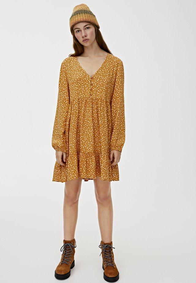 Sukienka letnia - mustard yellow