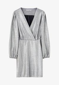PULL&BEAR - Sukienka koktajlowa - silver - 6