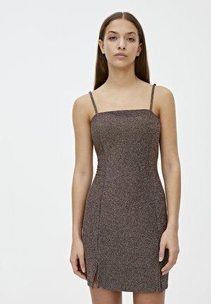 Koktejlové šaty/ šaty na párty - brown
