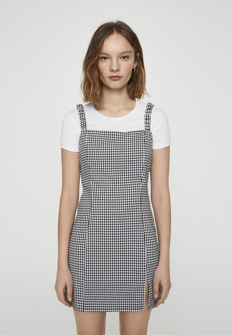 PULL&BEAR - Denní šaty - mottled black