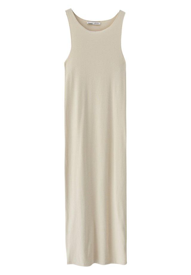 ÄRMELLOSES - Etui-jurk - beige