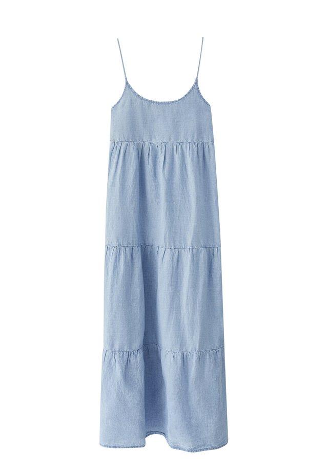 Korte jurk - mottled light blue