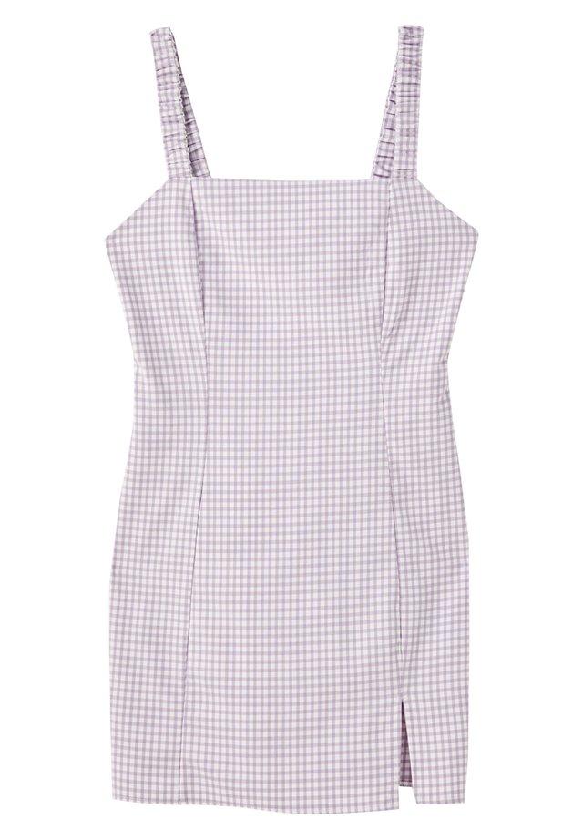 MIT VICHYKAROS  - Korte jurk - purple