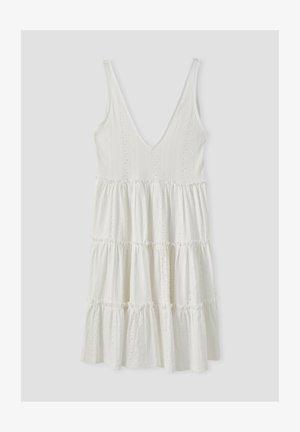 MIT SCHWEIZER STICKEREI - Day dress - white