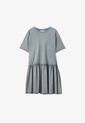 IM WASHED-LOOK MIT VOLANT AM SAUM - Day dress - grey