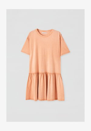IM WASHED-LOOK MIT VOLANT AM SAUM - Day dress - rose