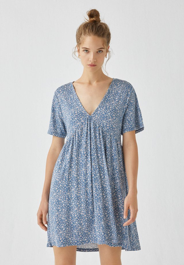 Sukienka letnia - mottled light blue