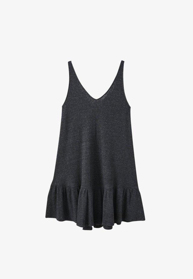 AUSGESTELLTES TRÄGER MIT VOLANTS - Sukienka z dżerseju - dark grey