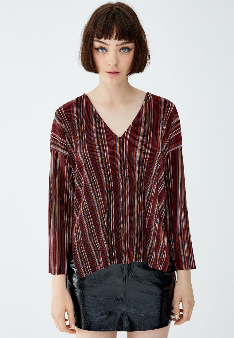 PULL&BEAR - Bluse - brown
