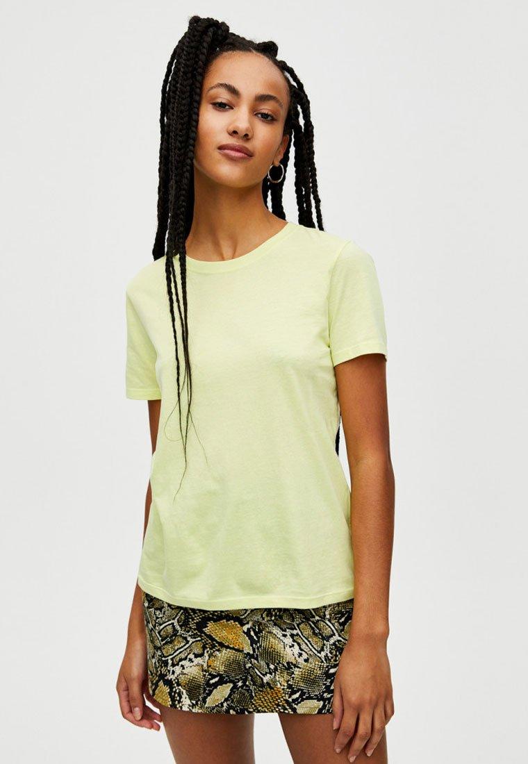 PULL&BEAR - Basic T-shirt - yellow