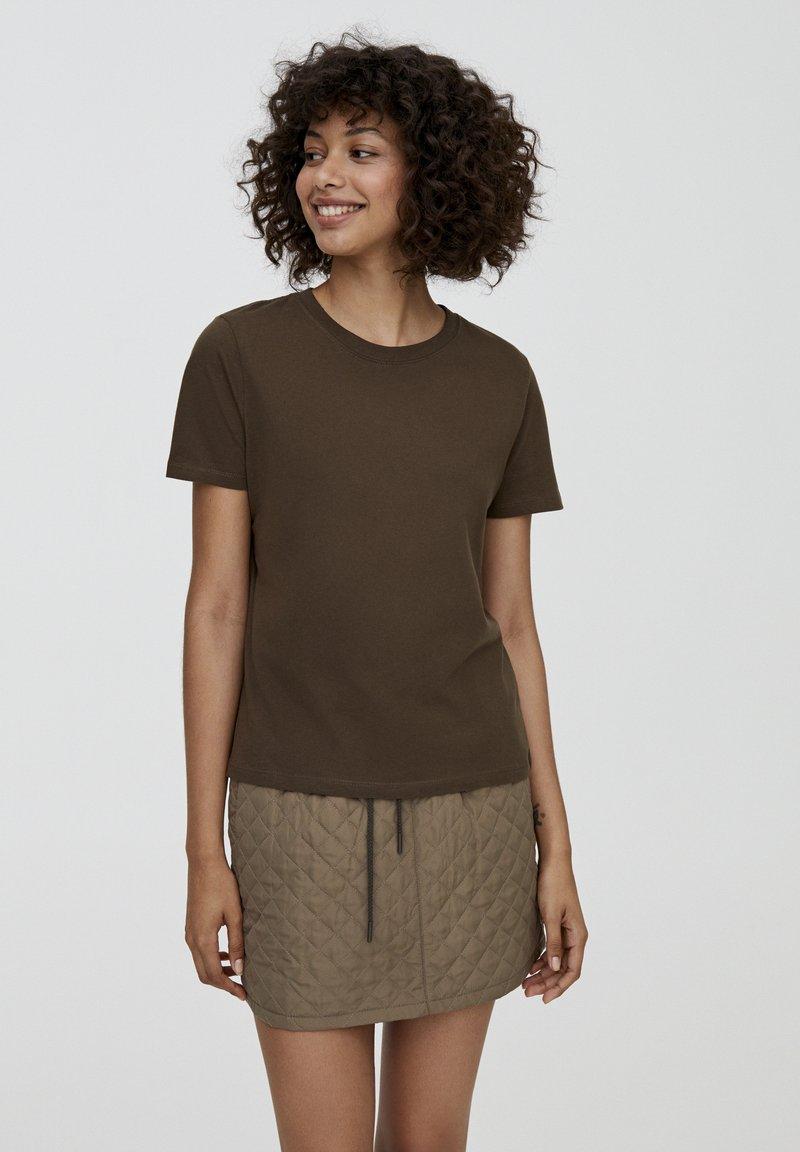 PULL&BEAR - BASIC - T-shirts basic - dark green