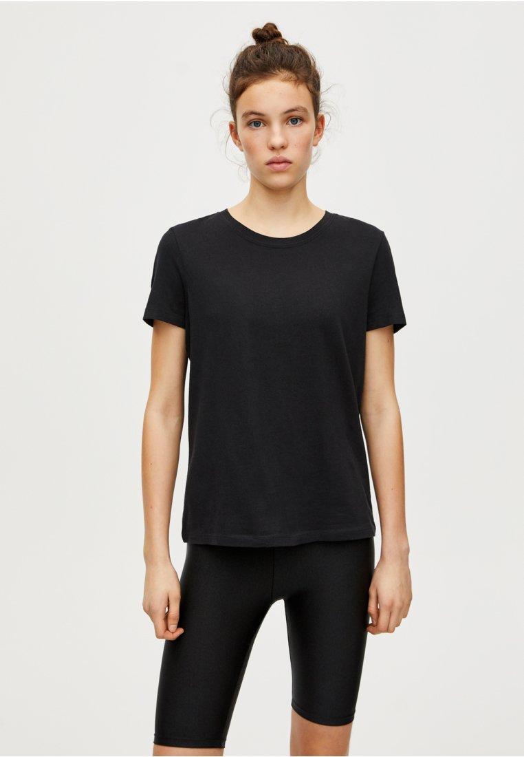 PULL&BEAR - BASIC - T-shirt basique - black