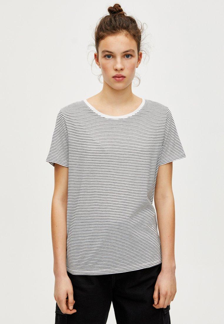 PULL&BEAR - JOIN LIFE  - T-shirt imprimé - white