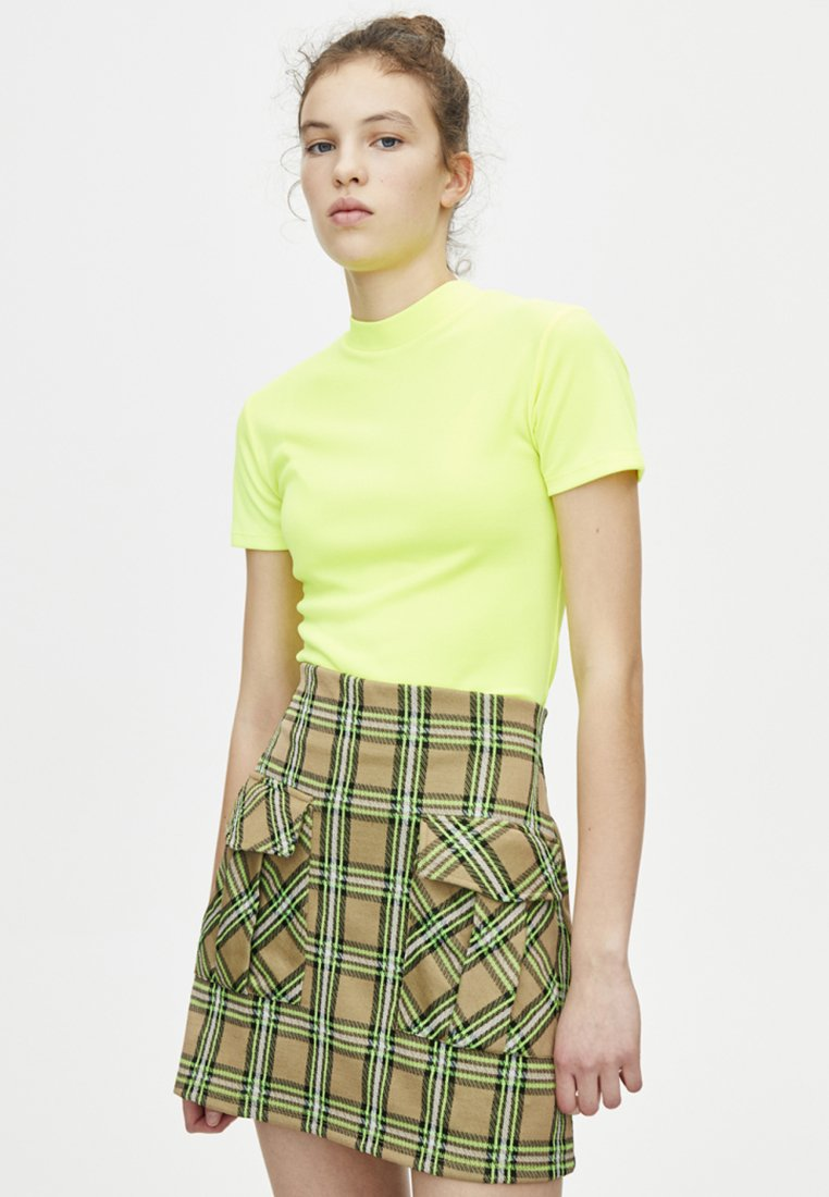 PULL&BEAR - Basic T-shirt - neon yellow