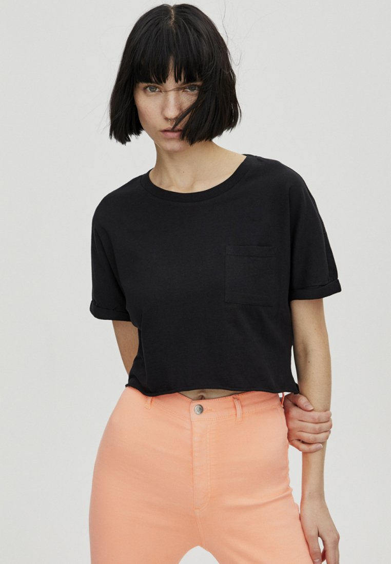 PULL&BEAR - JOIN LIFE - T-shirt imprimé - black