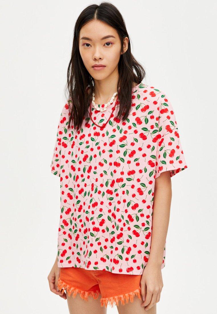PULL&BEAR - T-Shirt print - light pink
