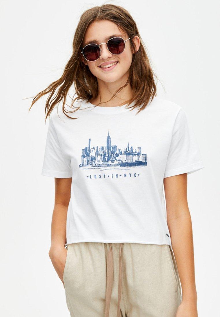 Mit amp;bear Imprimé Pull White Wolkenkratzer motivT shirt SzMUVjGLqp