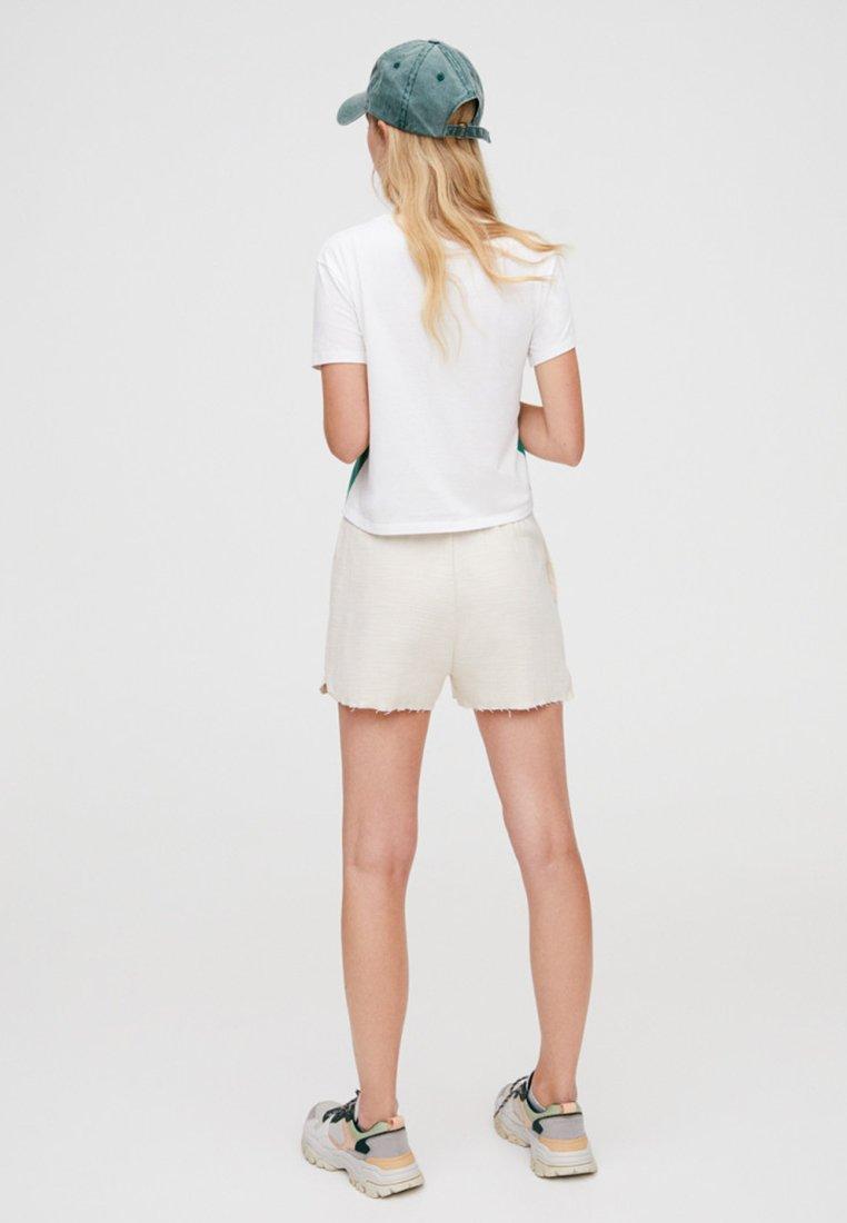 Pull White SloganT Panel Imprimé Mit shirt amp;bear Und design 8wOPXn0k