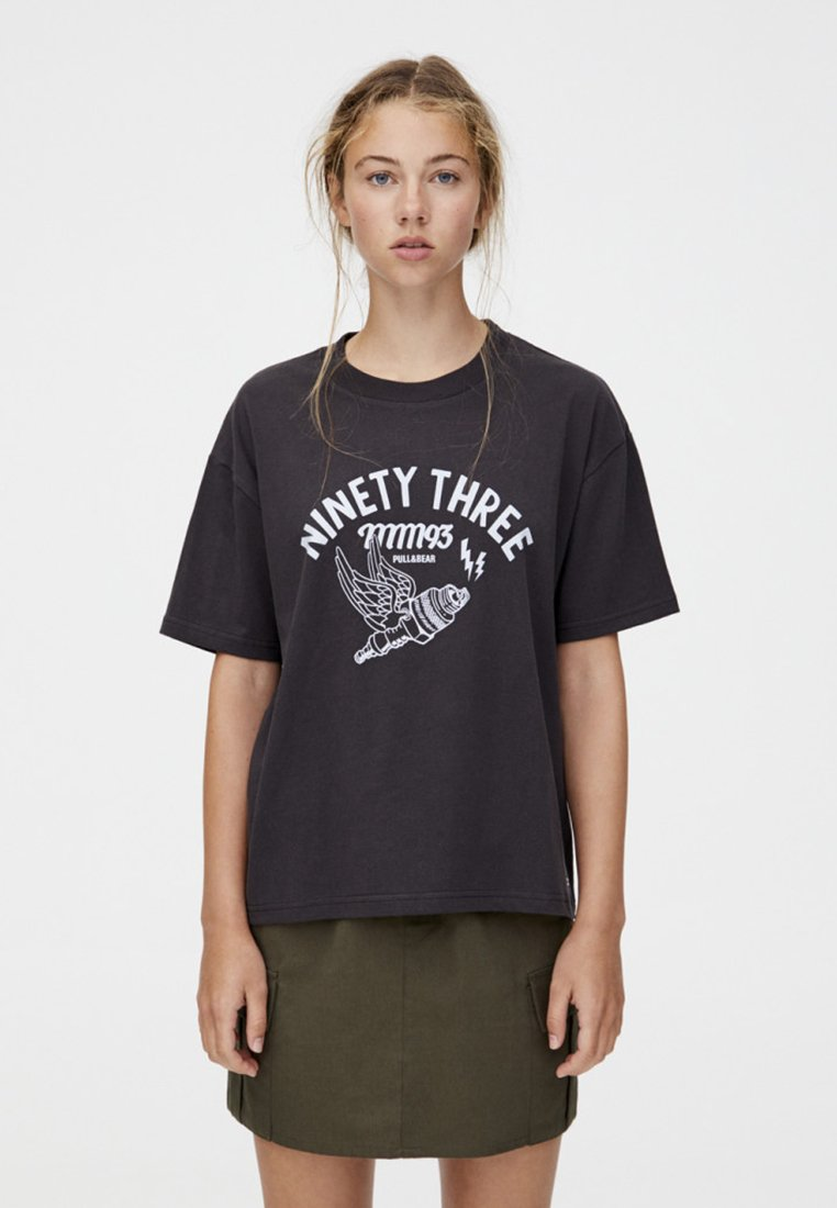 Stampa Pull Black ThreeT Ninety amp;bear shirt Con 0wPnOkNX8