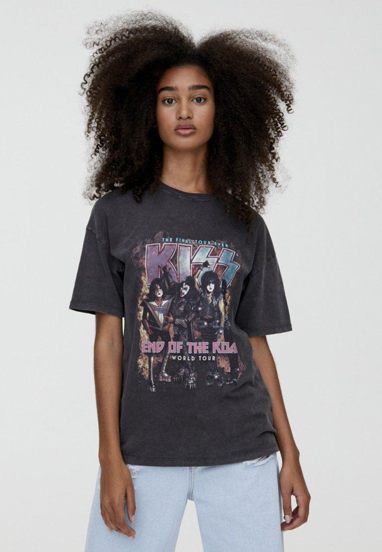 PULL&BEAR - END OF THE ROAD - T-Shirt print - black