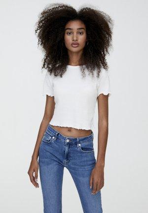 MIT MUSCHELSAUM - T-shirt con stampa - white