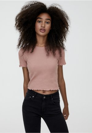 MIT MUSCHELSAUM - T-shirt z nadrukiem - rose