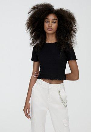 MIT MUSCHELSAUM - T-Shirt print - black