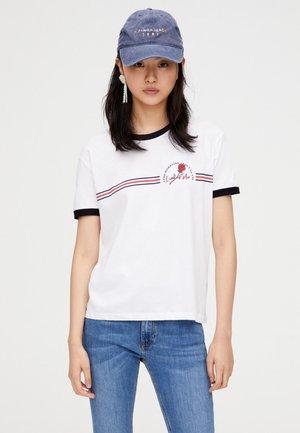 MIT ROSENPRINT  - T-shirt imprimé - white