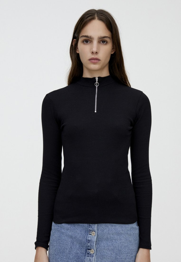 PULL&BEAR - Langarmshirt - black