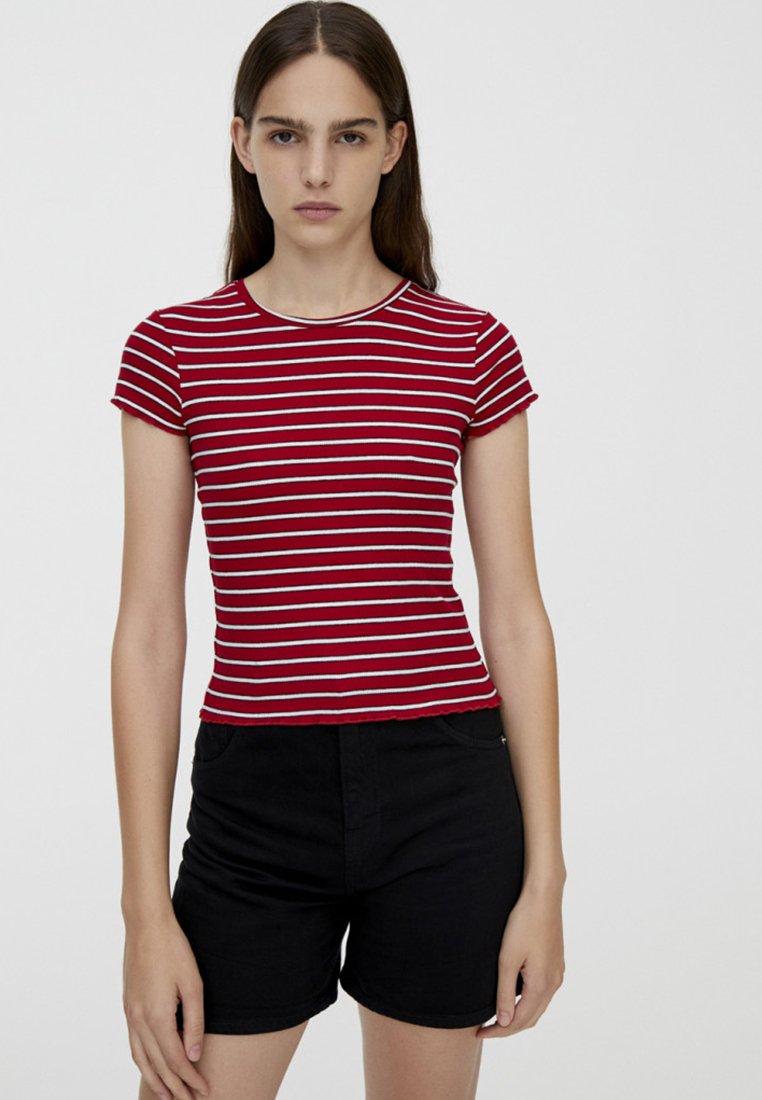 PULL&BEAR T-shirt imprimé red