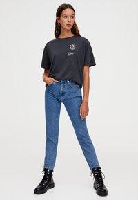 PULL&BEAR - T-Shirt print - dark grey - 1