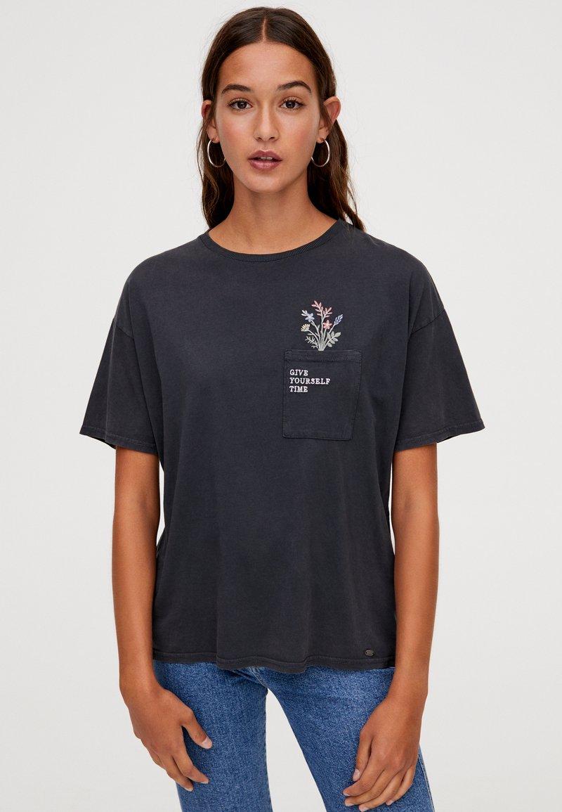PULL&BEAR - T-Shirt print - dark grey