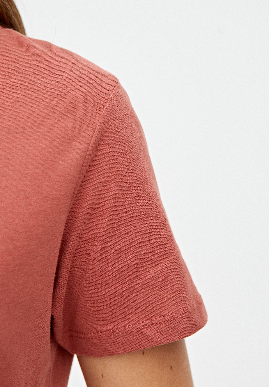 PULL&BEAR MIT KONTRASTEN - T-Shirt print orange