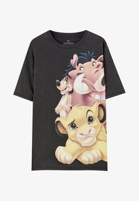 PULL&BEAR - TIMON AND PUMBAA - T-shirt print - black - 6