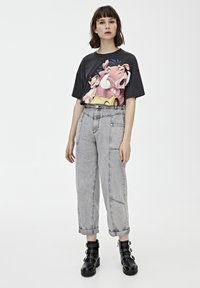 PULL&BEAR - TIMON AND PUMBAA - T-shirt print - black - 1