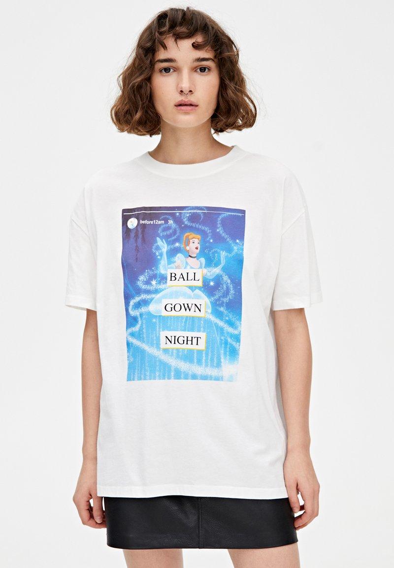 PULL&BEAR - CINDERELLA  - T-shirt print - white