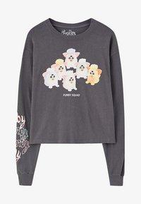 PULL&BEAR - Top sdlouhým rukávem - grey - 6